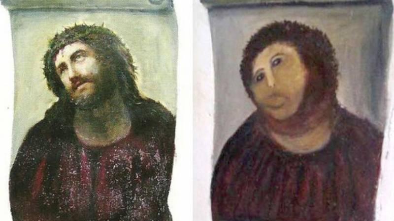 Elías García Martínez, Cecilia Giménez / Original and Monkey Jesus